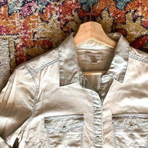 Calvin Klein chambray snap shirt